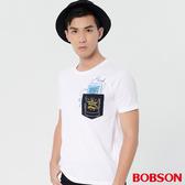 【BOBSON】男款貼袋印圖上衣(28009-80)