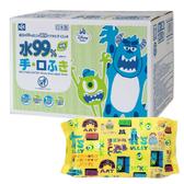 LEC 迪士尼怪獸電力公司 99%純水濕紙巾(1包60枚入×20個)