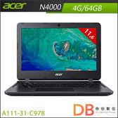 acer A111-31-C978 11.6吋 N4000 HD筆電 (6期0利率)-送acer無線滑鼠