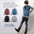 柒零年代【N7755J】韓版冬日樂活休閒感棉料窄身條紋接袖棒球外套(GS2049)