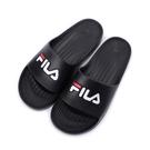 FILA 大LOGO套式拖鞋 黑 4-S355Q001 男鞋 鞋全家福