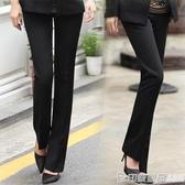 西褲女OL面試修身小腳黑色正裝工裝工作褲高腰直筒長褲職業西裝褲  印象家品