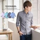 ∥柒零年代∥New Age【N8412J】都會時尚輕熟感黑色線條拼接七分袖襯衫(SH6020)