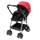 Aprica愛普力卡 Optia新視野 四輪自動定位導向型嬰幼兒手推車(熱力紅)