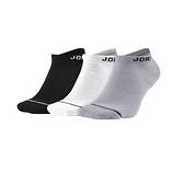 Nike JUMPMAN NOSHOW 3PPK 黑白灰 三雙入 運動 休閒 短襪 SX5546-018