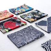 日式棉麻印花布藝海波紋餐墊雙層隔熱餐墊正反可用防滑墊 【限時八五折】