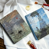 世界名畫油畫梵高莫奈星空手帳本隨身本子日記本筆記本文具 麥琪精品屋