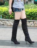大碼40 41 42 43 春秋高筒過膝靴彈力瘦腿長筒靴細跟簡約女靴冬靴