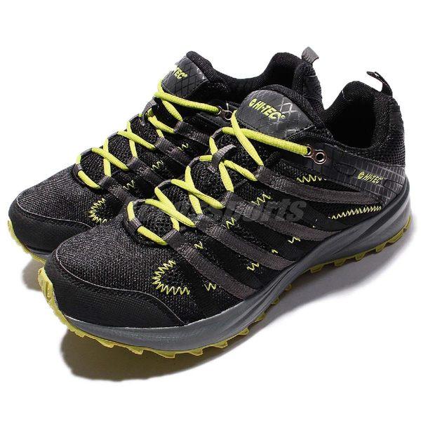 【六折特賣】 HI-TEC 越野慢跑鞋 Sensor Trail Lite 黑灰 黃 輕量 戶外鞋 男鞋 【PUMP306】 O005000022