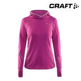 CRAFT 女款 長袖連帽跑步排汗衣1904349 (XS~M) / 城市綠洲 (瑞典品牌,路跑,透氣,吸濕排汗,輕量)