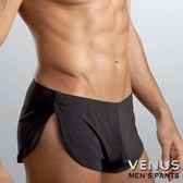 情趣用品 男用三角內褲  VENUS 透氣冰絲 舒適阿羅褲 四角褲 黑