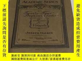 二手書博民逛書店老樂譜:American罕見Academic series No 23 TWENTY FOUR PROGRESSI