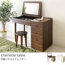 化妝台 化妝桌【收納屋】優質三抽化妝桌(胡桃木)& DIY組合傢俱