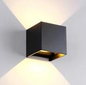 簡約現代雅黑色走廊過道壁燈極簡led可調戶外防水創意牆燈床頭燈 伊衫風尚