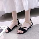 低跟鞋夏季粗跟涼鞋女仙女風夏低跟鞋中跟學生韓版百搭少女鞋潮 麗人印象 全館免運
