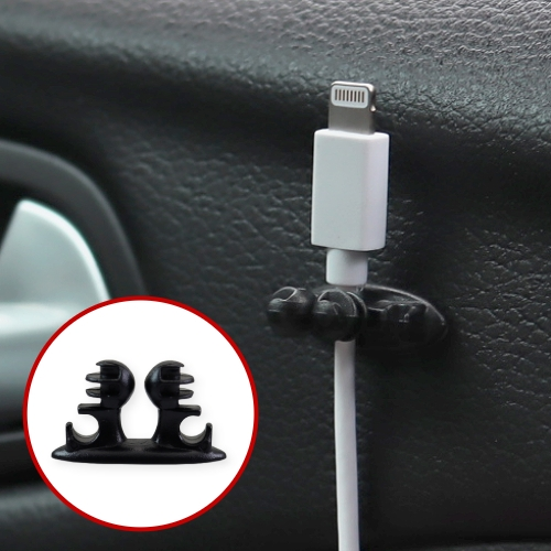 【A-HUNG】多功能固線夾 (1入) 固線器 電線固定繞線器 配線器 USB 傳輸線 收納器 綁線器 理線器