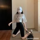 鯊魚褲 夏防走光女外穿高腰瑜伽冰絲打底芭比五分褲騎行緊身運動健身短褲 星河光年