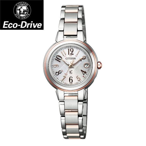 [萬年鐘錶] Citizen Eco Drive光動能 XC  數字時標 銀錶面 不鏽鋼錶帶 ES9434-53X