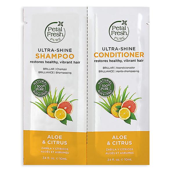 [3入試用包]沛特斯柑橘蘆薈保濕洗髮精+潤絲精10mlX2