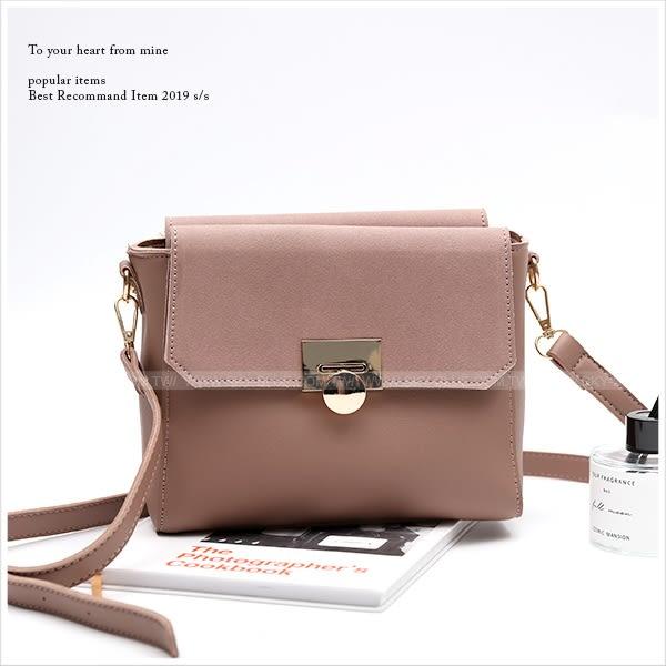 側背包-知性金屬釦雙面造型側背包-共3色-A17172754-天藍小舖