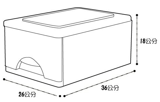 D092抽屜整理箱-3入