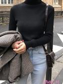 高領毛衣女新款時尚洋氣黑色高領毛衣女士秋冬修身內搭打底衫長袖針織潮JUSTM春季新品