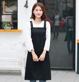 韓版時尚圍裙女可愛廚房成人防水防油工作服罩衣圍裙定制logo 七夕情人節