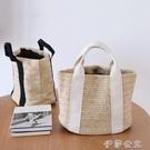 便當袋 日常 休閑草編包飯盒袋子手提便當包戶外度假沙灘包野餐手拎袋 伊莎公主