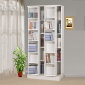 ONE HOUSE- 日式雙排活動書櫃 大容量書櫃 全鋼鐵鋼珠滑輪/展示櫃/書架