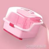 奶瓶收納盒嬰兒奶瓶收納箱盒便攜大號寶寶帶蓋餐具用品儲存盒瀝水防塵晾干架 大宅女韓國館