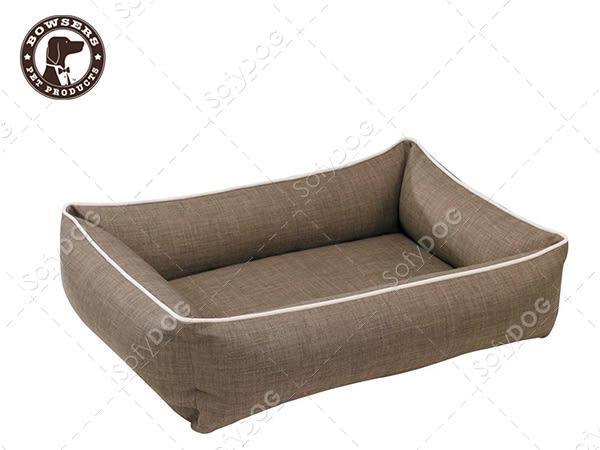 【毛麻吉寵物舖】Bowsers都會極適寵物方床-十字織紋(棕)L 寵物睡床/狗窩/貓窩/可機洗