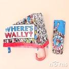日貨摺疊傘 Where's Wally?- Norns 日本進口 尋找威利 威利在哪裡 輕量耐風骨 防風雨傘 摺疊傘 折傘