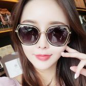 韓版新款墨鏡女潮圓臉偏光太陽鏡眼鏡明星同款復古原宿風