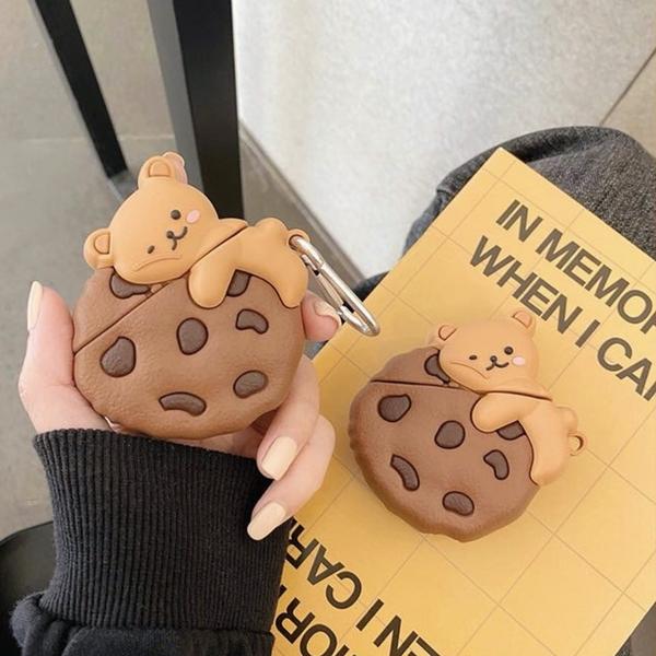 Airpods Pro 專用 1/2代 台灣發貨 [ 巧克力餅乾小熊 ] 藍芽耳機保護套 蘋果無線耳機保護