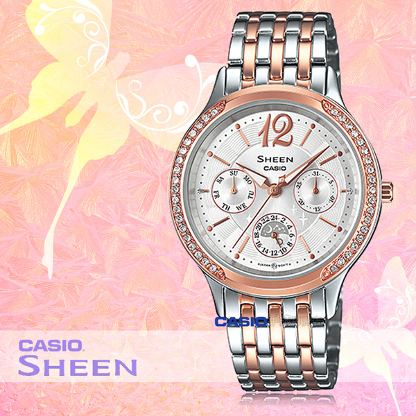 CASIO 卡西歐 手錶專賣店 SHE-3030BSG-7A 女錶 不鏽鋼指針錶帶 三眼 防水 全新品 保固一年