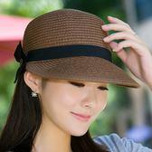 防曬帽帽子女士夏天草帽遮陽沙灘帽防曬太陽帽鴨舌帽馬術帽戶外出游夏季 爾碩數位3c