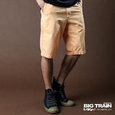 Big Train 斜紋短褲-男-黃-B5007122