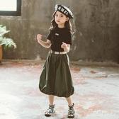 女童套裝夏裝2020新款兒童短袖大童童裝女孩兩件套裙夏款洋氣潮 yu13479【棉花糖伊人】