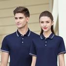 夏天短袖工作服定制polo衫企業公司員工衣團隊服裝印logo