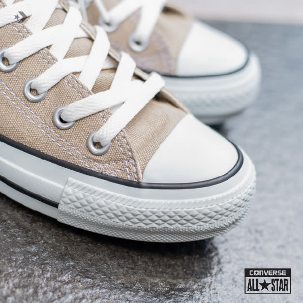 ISNEAKERS CONVERSE CANVAS ALL STAR COLORS 1CL129 機能 經典 卡其 奶茶色