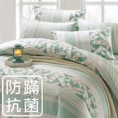 鴻宇 單人鋪棉兩用被套 夢時尚綠 防蟎抗菌 美國棉授權品牌 台灣製2121