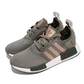 adidas 休閒鞋 NMD_R1 W 墨綠 玫瑰金 女鞋 Boost 愛迪達 三葉草 【ACS】 FX8832