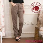 【RED HOUSE-蕾赫斯】20%羊毛百搭釦環直筒褲(共二色)