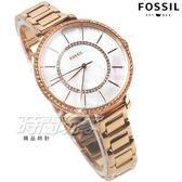 FOSSIL 奢華完美 魅力女伶 珍珠螺貝面盤 不銹鋼 鑲鑽 玫瑰金電鍍 女錶 防水手錶 ES4452