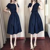 夏天無袖氣質洋裝收腰顯瘦2021新款純色高腰系帶女裝a字裙子 「雙10特惠」