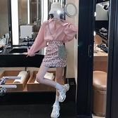 粉色襯衫女設計感小眾夏季甜美減齡薄款防曬衣寬鬆雪紡襯衣上衣潮7 幸福第一站