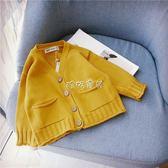 兒童針織外套 v領毛針織衫潮 春秋裝2018新款開衫男女童寶寶寬鬆純棉線毛衣外套 珍妮寶貝