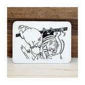 MOOMIN 嚕嚕米PU皮革刺繡證件卡片夾(白)★funbox★Gakken_GK18277