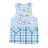 Sanrio 大耳狗喜拿罩衫式圍裙(藍白格紋)★funbox★_654531