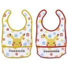 【震撼精品百貨】神奇寶貝_Pokemon~POKÉMON 皮卡丘 利其爾 RICHELL 2入兒童圍兜兜